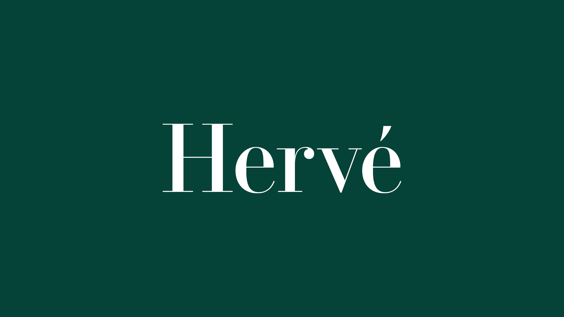 Hervé logo on green background