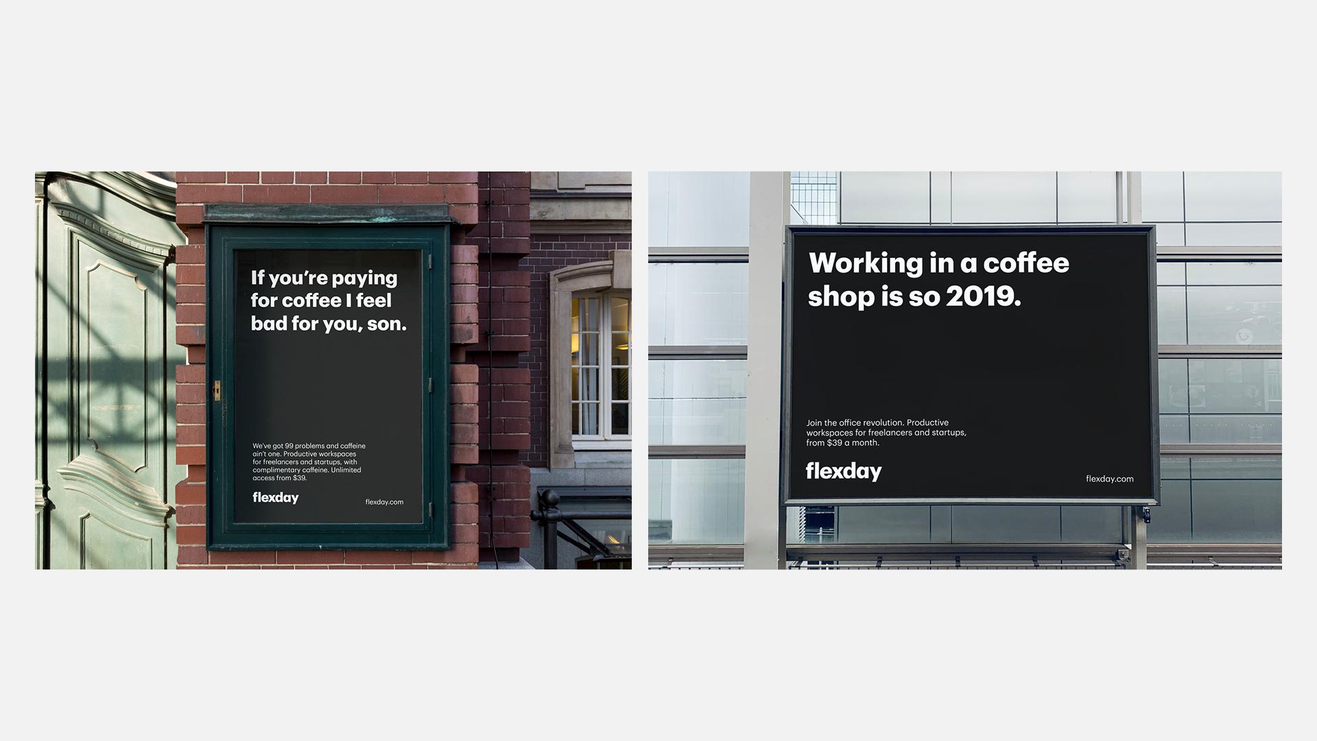 Billboard advertising for flexday
