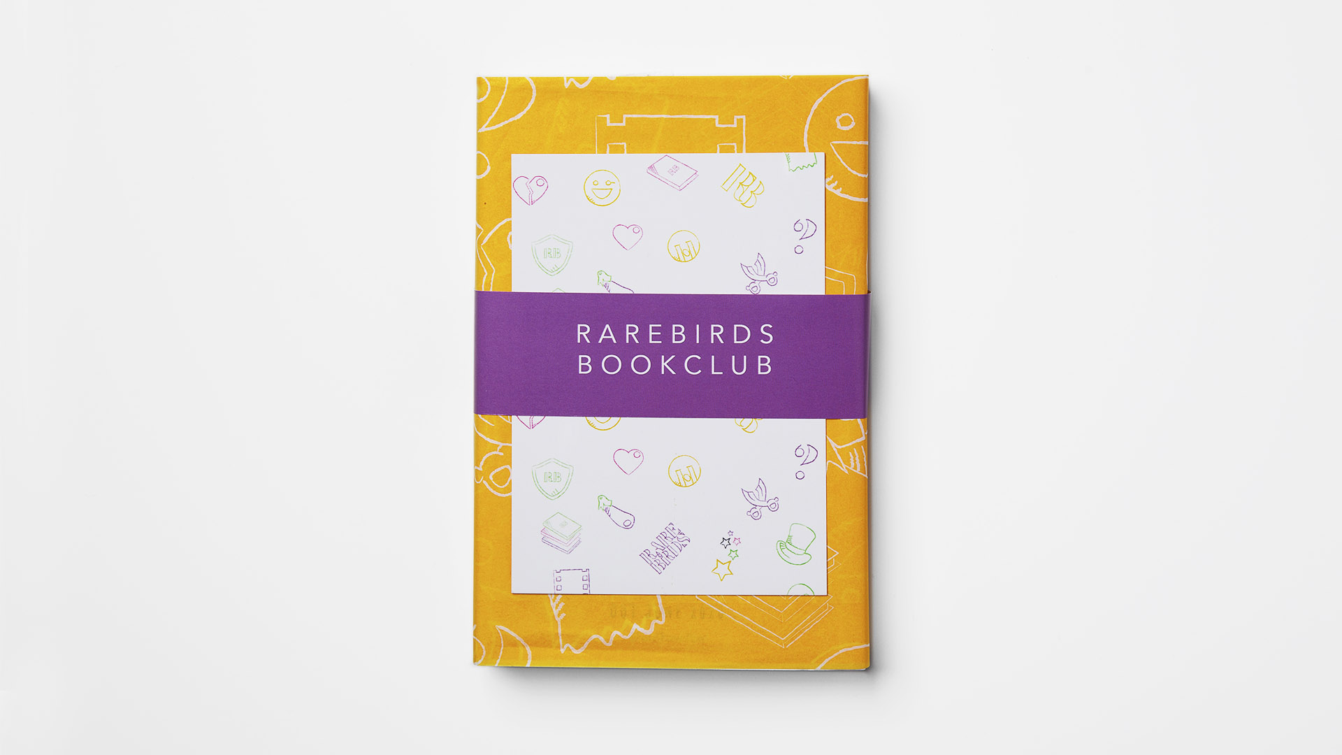 Book wrapped in yellow